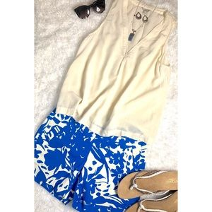 J. Crew Blue Floral City Fit Shorts